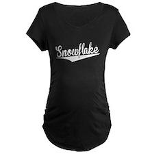 Snowflake, Retro, Maternity T-Shirt