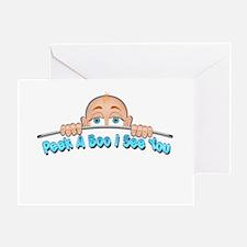 Peek a Boo I See You Baby Boo 1 Greeting Cards