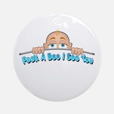 Peek a Boo I See You Baby Boo 1 Ornament (Round)