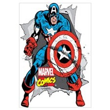 Captain America Ripped Wall Art