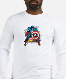 Captain America Ripped Long Sleeve T-Shirt