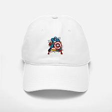 Captain America Ripped Baseball Baseball Cap