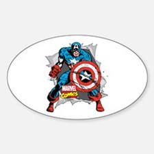 Captain America Ripped Decal