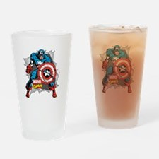 Captain America Ripped Drinking Glass