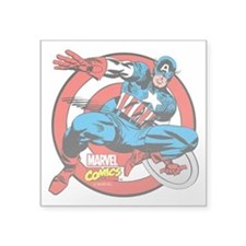 "Captain America Shield Square Sticker 3"" x 3"""