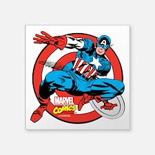 """Captain America Shield Square Sticker 3"""" x 3"""""""