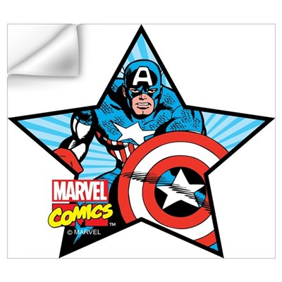 Captain america star wall art wall decal Captain america wall decor