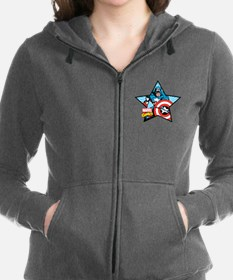 Captain America Star Women's Zip Hoodie