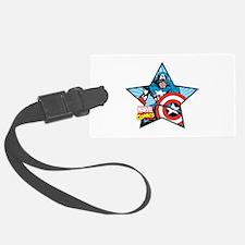 Captain America Star Luggage Tag