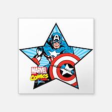 """Captain America Star Square Sticker 3"""" x 3"""""""