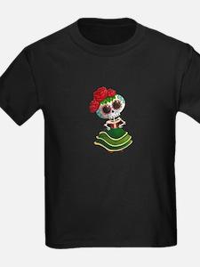 El Dia de Los Muertos Skeleton Girl T-Shirt