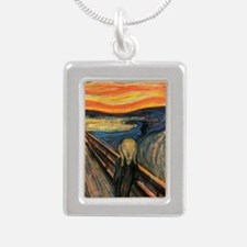 The Scream - Der Schrei  Silver Portrait Necklace