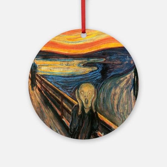 The Scream - Der Schrei der Natur Round Ornament