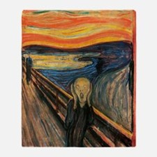 The Scream - Der Schrei der Natur Throw Blanket