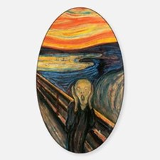 The Scream - Der Schrei der Natur Sticker (Oval)