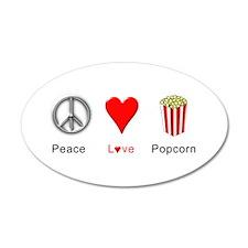 Peace Love Popcorn Wall Decal