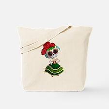 El Dia de Los Muertos Skeleton Girl Tote Bag