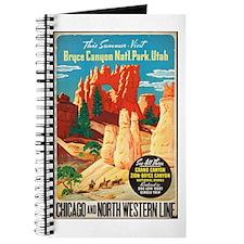 Bryce Canyon Vintage Art Journal