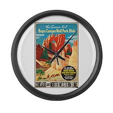 Bryce Canyon Vintage Art Large Wall Clock