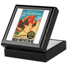 Bryce Canyon Vintage Art Keepsake Box