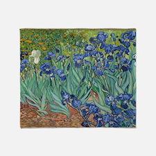 Irises Vincent Van Gogh Reprint Throw Blanket