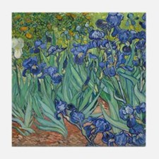 Irises Vincent Van Gogh Reprint Tile Coaster