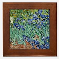 Irises Vincent Van Gogh Reprint Framed Tile