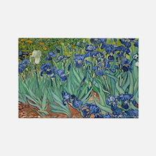 Irises Vincent Van Gogh Reprint Rectangle Magnet