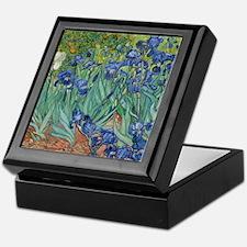 Irises Vincent Van Gogh Reprint Keepsake Box