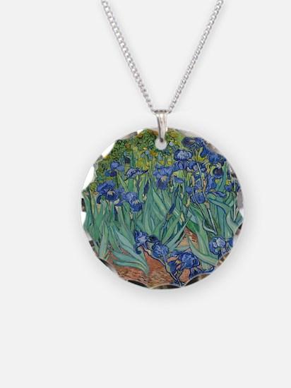 Irises Vincent Van Gogh Repr Necklace
