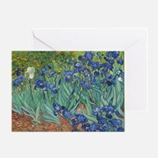 Irises Vincent Van Gogh Reprint Greeting Card