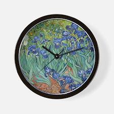 Irises Vincent Van Gogh Reprint Wall Clock