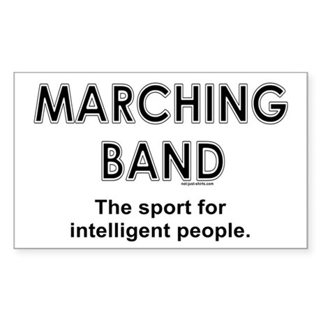 Marching Band Rectangle Sticker