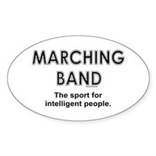 Marching Band Oval Stickers