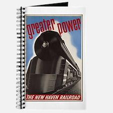Great Power Train Vintage Art Journal