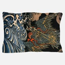 Vintage Dragon and the Sea Pillow Case