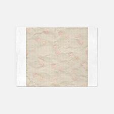 Vintage Antique Victorian Rose Stripe Pattern 5'x7