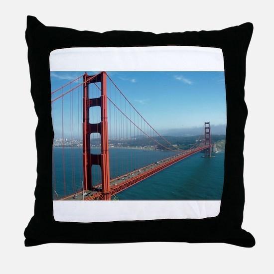 Cute Golden gate bridge Throw Pillow