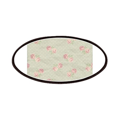 Vintage Antique Victorian Polka Dots Rose Pattern