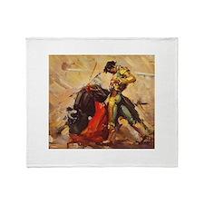Matador Vintage Art Throw Blanket