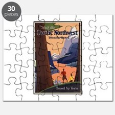 Pacific Northwest Vintage Art Puzzle