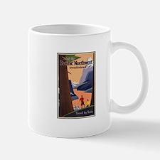 Pacific Northwest Vintage Art Mugs