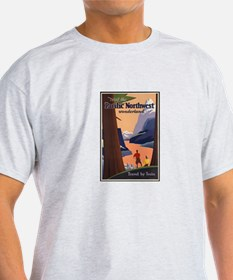 Pacific Northwest Vintage Art T-Shirt