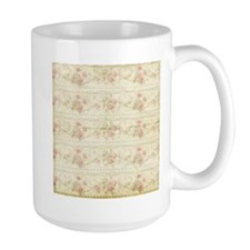 Vintage Antique Victorian Floral Rose Stripes Mugs