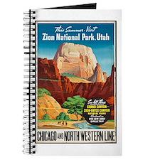 Zion National Park Vintage Art Journal
