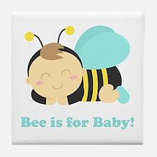 sleeping-baby-bee-cafepress Tile Coaster