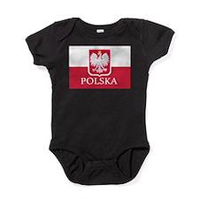 Polska Polish Flag Baby Bodysuit