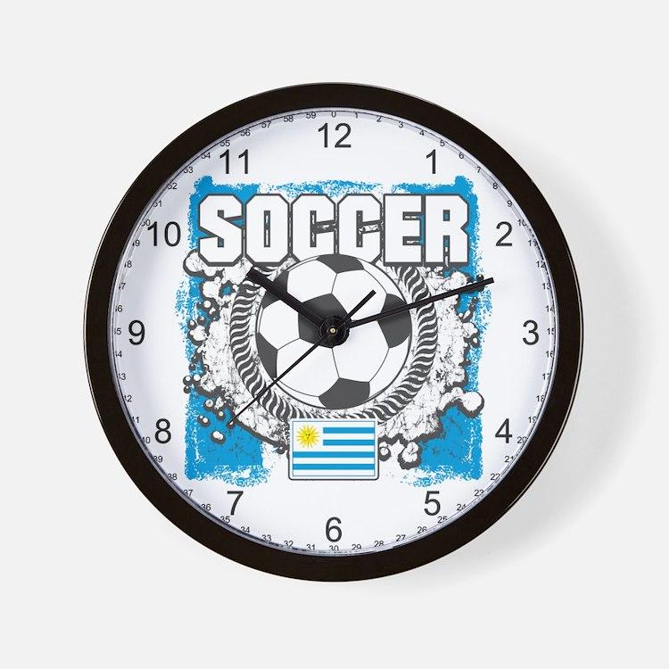 Uruguay Soccer Wall Clock