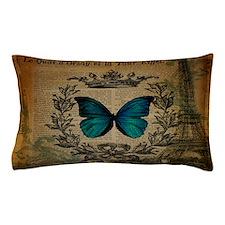 vintage paris eiffel tower butterfly jubilee Pillo