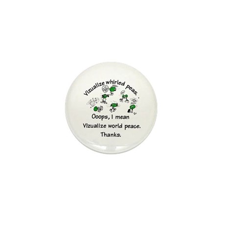 Whirled Green Peas Mini Button (10 pack)